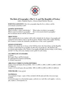 The Role of Geography -- The United States and the Republic of Turkey Lesson Plan