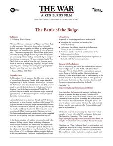 The Battle of the Bulge Lesson Plan
