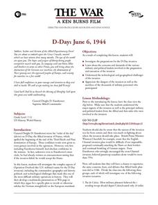 D-Day: June 6, 1944 Lesson Plan