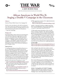 African Americans in World War II: Staging a Double V Campaign in the Classroom Lesson Plan