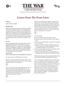 Letters From the Front Lines Lesson Plan