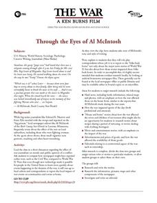 Through the Eyes of Al McIntosh Lesson Plan
