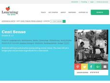 Cent Sense Lesson Plan