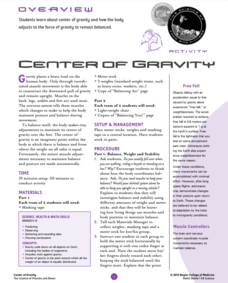 Writing A To Z Worksheet Center Of Gravity Lesson Plans  Worksheets Reviewed By Teachers Multiplying And Dividing Decimals Word Problems Worksheets Word with Free Grade 2 Math Worksheets Excel Center Of Gravity Lesson Plan Common Core Probability Worksheets Word