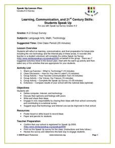Learning Communication And St Century Skills Students Speak - 21st century lesson plan template