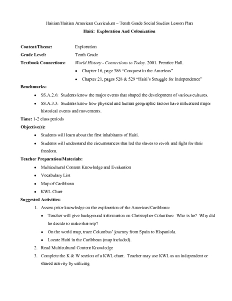 Spanish Colonization Of America Lesson Plans Amp Worksheets Lesson Planet