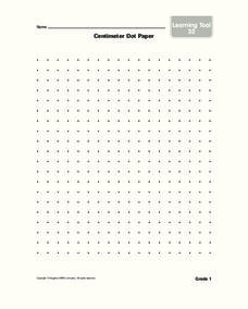 Centimeter Dot Paper Worksheet