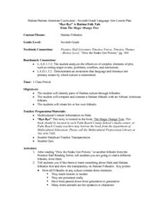 Haiti Lesson Plans & Worksheets | Lesson Planet