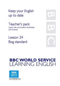 Keep Your English Up to Date: Bog Standard Lesson Plan