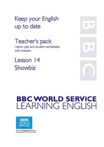 BBC Learning English - Keep Your English Up to Date Lesson Plan