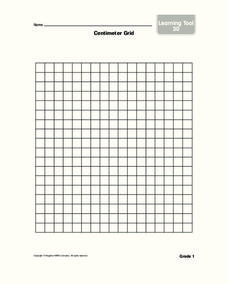 Centimeter Grid Worksheet