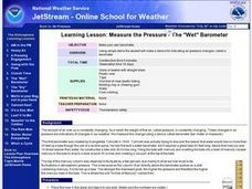 "Measure the Pressure - The ""Wet"" Barometer Lesson Plan"