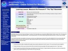"Measure the Pressure II - The ""Dry"" Barometer Lesson Plan"