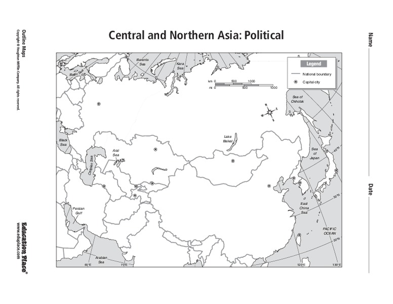 Central and Northern Asia: Political Graphic Organizer for 6th ...