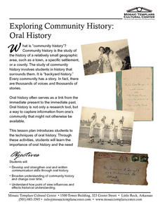 Exploring Community History:  Oral History Lesson Plan
