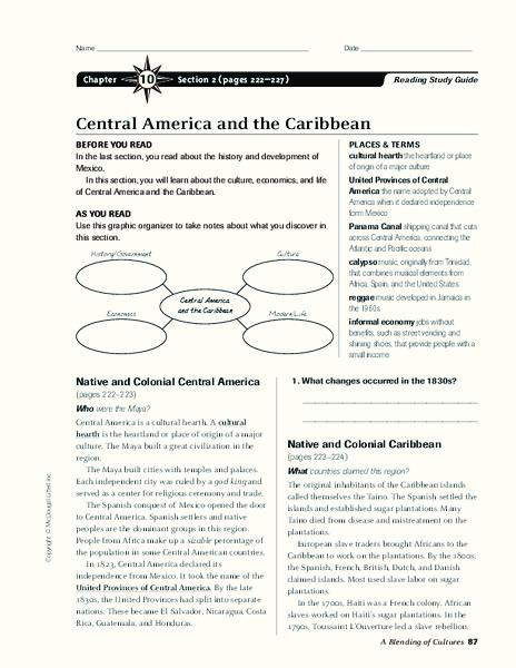 Central America Worksheet - The Best and Most Comprehensive Worksheets