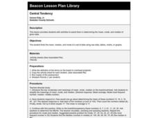 Central Tendency Lesson Plan