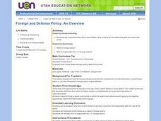 Foreign and Defense Policy Lesson Plan