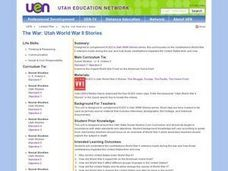 The War: Utah World War II Stories Lesson Plan