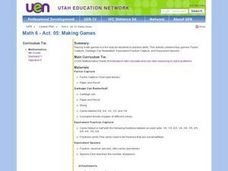 Making Games Lesson Plan