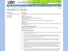 Lead Up Skills for Tchoukball Lesson Plan