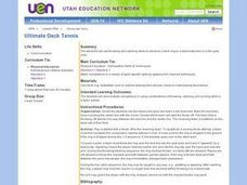 Physical Education: Ultimate Deck Tennis Lesson Plan