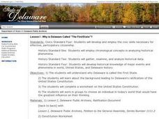 "Lesson I - Why is Delaware Called ""The First State""? Lesson Plan"