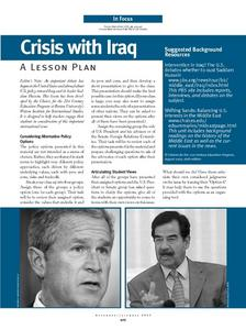 Crisis with Iraq Lesson Plan