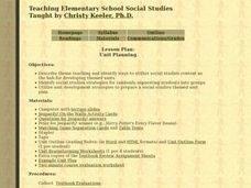 Unit Planning For Social Studies Lesson Plan