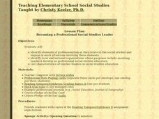 Becoming a Professional Social Studies Leader Lesson Plan