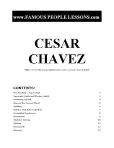 review and analysis of cesar chavez The rhetorical career of cesar chavez (review) in chapter three, the authors present the framework of their analysis of chávez's works.