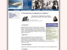 The Education of Abigail Powers Fillmore Lesson Plan