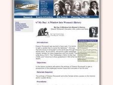 My Day: A Window Into Women's History Lesson Plan