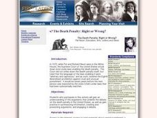 Social Studies: The Death Penalty - Right or Wrong? Lesson Plan