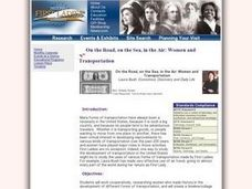 On the Road, on the Sea, in the Air: Women and Transportation Lesson Plan