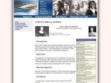 First Ladies as Activists Lesson Plan