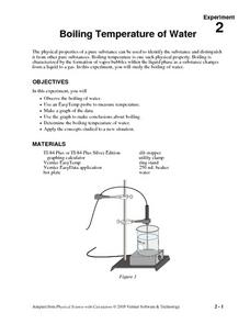 Boiling Temperature of Water Lesson Plan