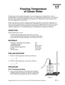 Freezing Temperature of Ocean Water Lesson Plan