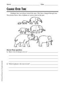 Change Over Time Worksheet