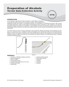 Evaporation of Alcohols Vernier Data-Collection Activity Lesson Plan