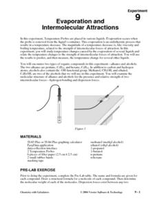 Evaporation and Intermolecular Attractions Lesson Plan