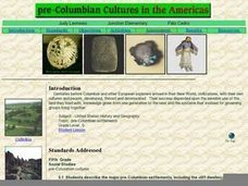 Pre-Columbian Cultures in the Americas Lesson Plan