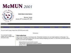 McMUN Model United Nations Lesson Plan