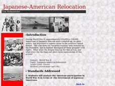 Japanese-American Relocation Lesson Plan