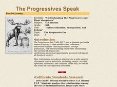 Understanding The Progressives And Their Viewpoints Lesson Plan