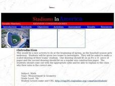 Stadiums in America Lesson Plan