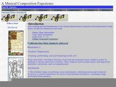 A Musical Composition Experience Lesson Plan