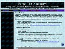 Forget The Dictionary! Lesson Plan