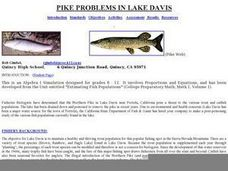 Pike Problems in Lake Davis Lesson Plan