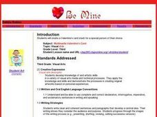 Multimedia Valentine's Card Lesson Plan